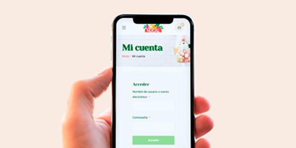 Acceder a mi cuenta y crear mi lista de la compra en la tienda online de Nucal desde el móvil